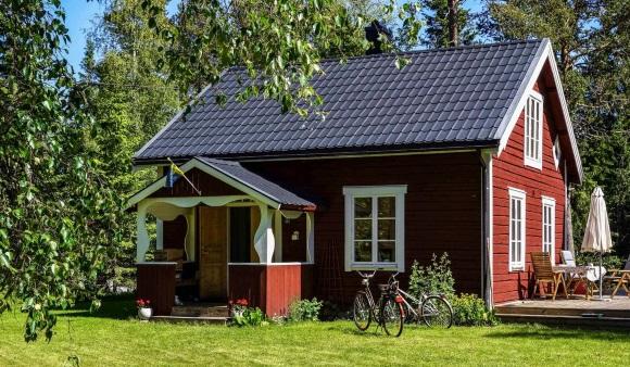 Haus bei Umeå in Nordschweden